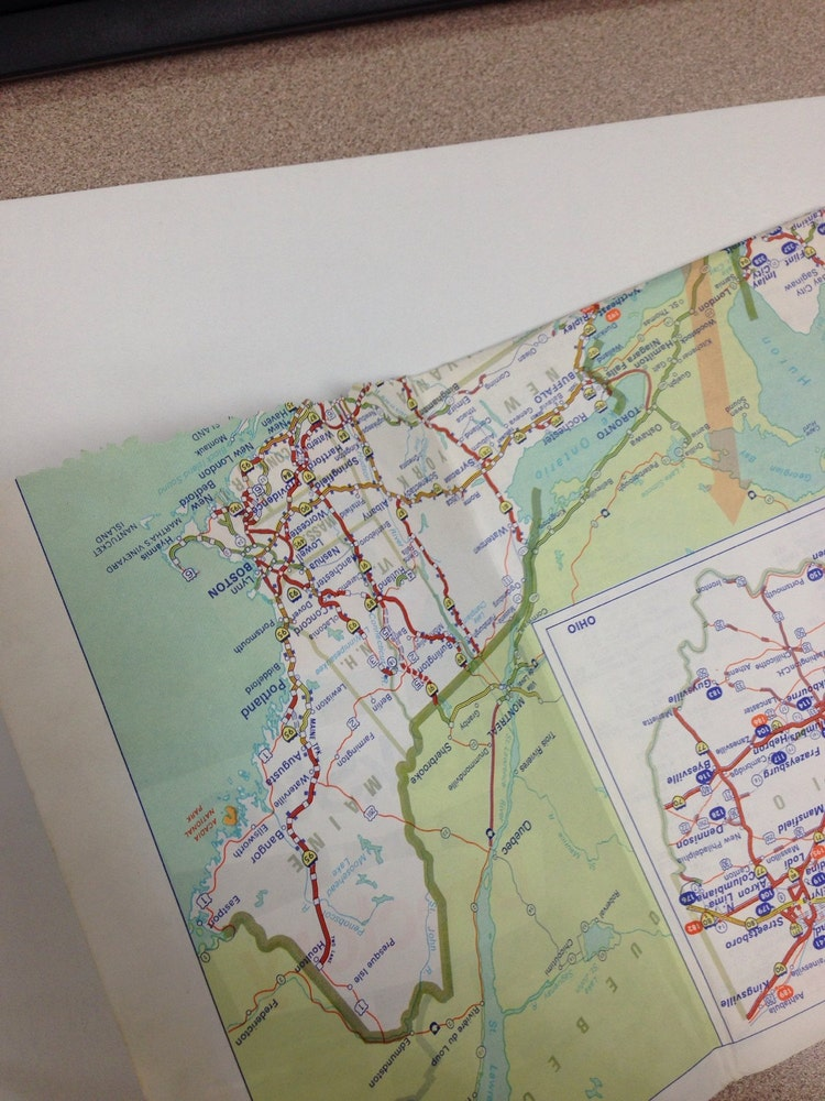 Vintage Union 76 Truck Stop Directory Map by ...