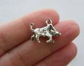 4 Warthog charms antique silver tone A34