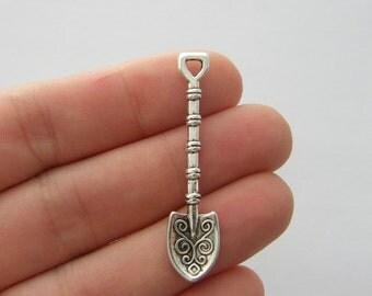 BULK 20 Spade charms antique silver tone P369