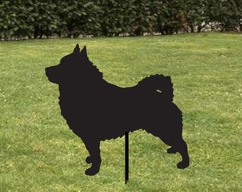 Schipperke Garden Stake or Wall Hanging / Pet Memorial / Garden Art / Garden Decor / Yard Art / Lawn Ornament / Metal / Dog / Silhouette