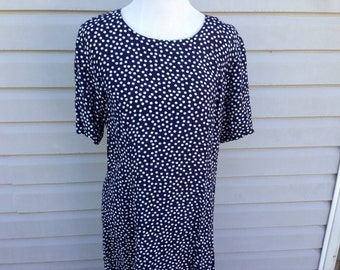 Navy Polka Dot Halter Dress