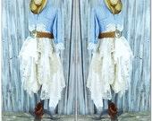 Country chic dress, Romantic Fall winter boho clothing, Rustic Coat dress, Blue white stripe mans shirt dress, Street, True rebel clothing
