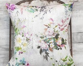 Pillow Cover Muted Grey Floral