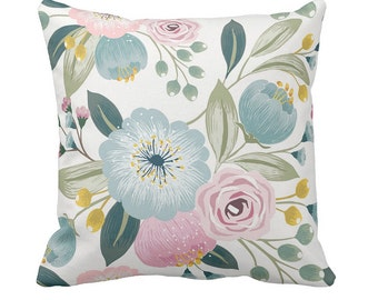 Pillow Cover Green and Blush Candace Floral
