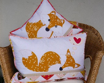 Foxies Applique Cushion Pattern