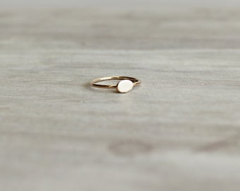 Oval Ring in Rose Gold, Rose Gold Ring, Geometric Ring