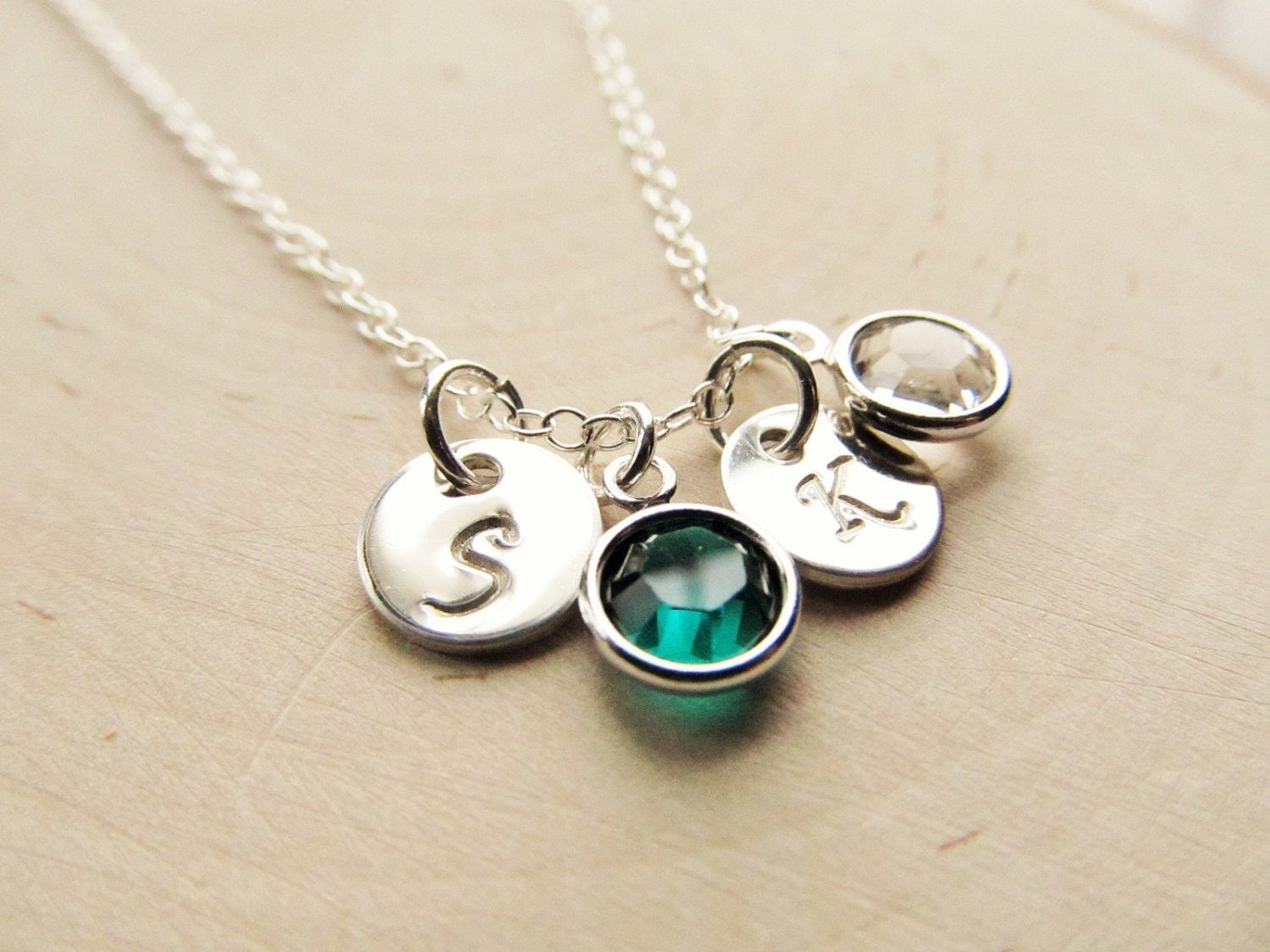 personalized necklace for mom sterling silver birthstone. Black Bedroom Furniture Sets. Home Design Ideas