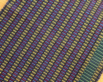 Handmade Cotton  Rug / Primary Color Machine Washable Rug 2' x 4'