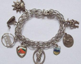 West Coast Sterling Silver Charm Bracelet