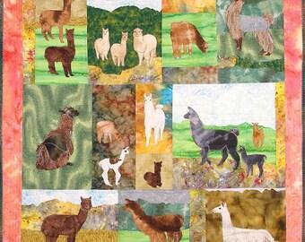 Llamas and Alpacas Machine Applique Pattern by Debora  Konchinsky, Critter Pattern Works