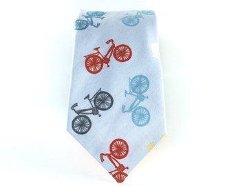 Bike Tie Bicycle Necktie Mens Ties Mens Neckties Grey Bike Tie Gray Bike Tie Bicycle Print Necktie Skinny TIes Tall Ties Long Tie Cotton Tie