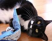 Organic catnip mat, cat quilt, cat mat, mini quilt, cat toy, catnip toy, cat gift under 15