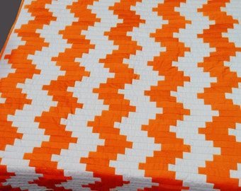 Personalised blanket/cal king bedding set/home and living/orange is the new black/blanket ladder/chevron pattern/gift for her/throw blanket