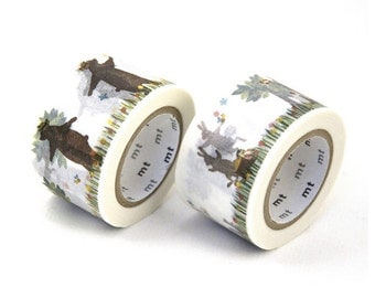MT ex 2013 Japanese Washi Masking Tape / Rabbits and Squirrels or Bears and Squirrels at your choice 30mm (Used to be Limited Edition)