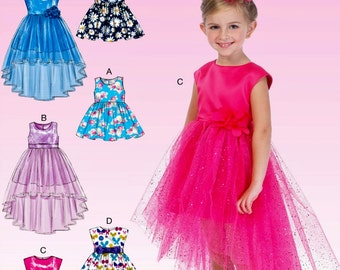 Girls' Special Occasion Dress Pattern, Girls' Sunday Dress Pattern, Flower Girl Dress Pattern, McCall's Sewing Pattern 7077