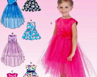 Girls' Dress Pattern, Girls' Tulle Dress Pattern, Girls' Sunday Dress Pattern, Flower Girl Dress Pattern, McCall's Sewing Pattern 7077