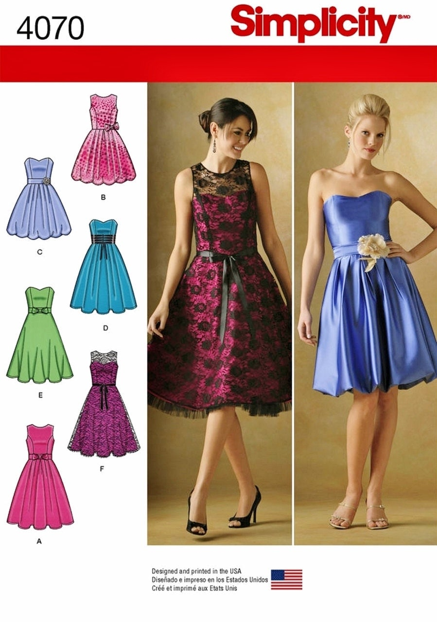 strapless dress pattern special occasion dress