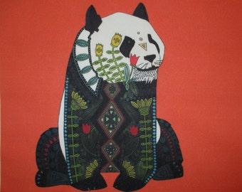 """Panda Bear Quilt Block 8"""""""