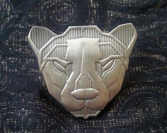 Galactic Cheetah Silver Pin