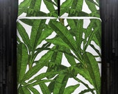 Tropical Jungle Palm Banana Leaf Duvet Cover Bedding Queen Size King Twin Blanket Sheet Full Double Comforter Toddler Daybed Kid Teen Dorm