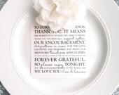 Printable Wedding Reception Thank You Card - Style TY67  | Wedding Thank You | Thank You Note