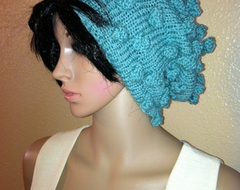 Slouchy Bobbled - fashionable beanie hat FREE Shipping ships WITHIN the US