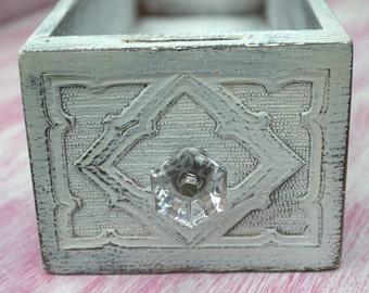 Re-purposed Antique Sewing Drawer, Shabby Chic Storage, Wooden Container, Annie Sloan Painted Drawer, Kitchen Storage, Bathroom Storage