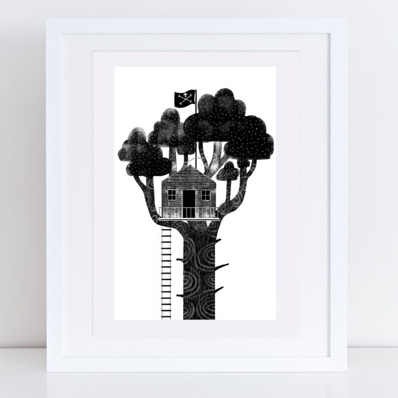 The Treehouse - Signed print