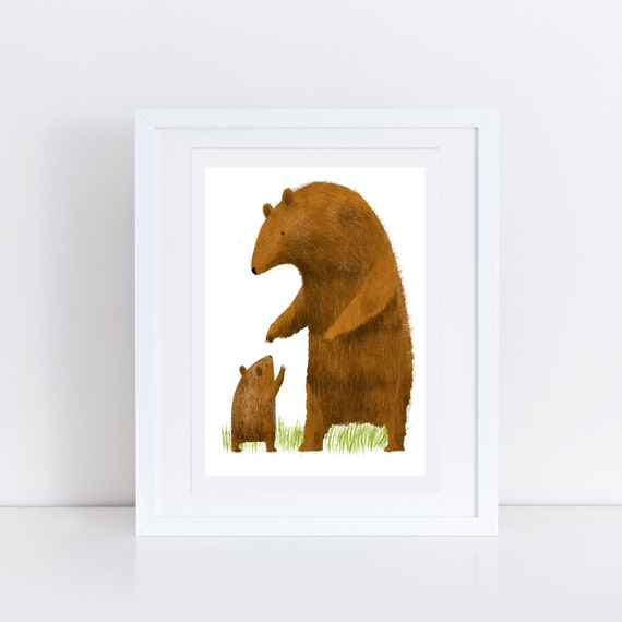 Bear and Cub - Signed print