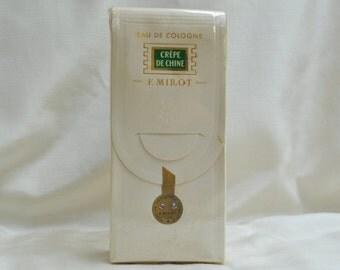 Vintage Crêpe de Chine Eau de Cologne Made in Paris France F. Millot
