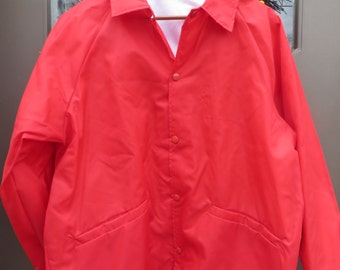 1970S NEW condition red nylon windbreaker jacket by Cardinal USA  size large