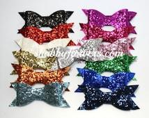 Large Flat Glitter Bows, Wholesale Glitter Bows