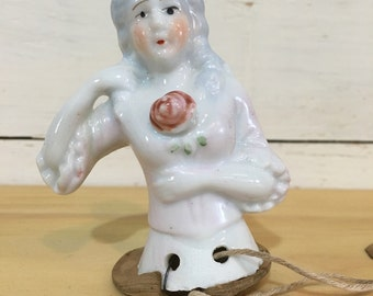 Ceramic Lady Pincushion Doll