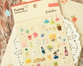 KITCHEN Food Collection deco puffy stickers