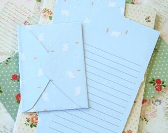 Blue Bear Time Diary writing paper & envelope set