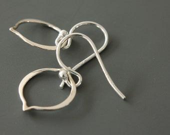 Sterling Silver Drop Outline Earrings - Simple Earrings - Drop Earrings - Dangle Earrings - Dainty Earrings - Casual Earrings - Minimalist