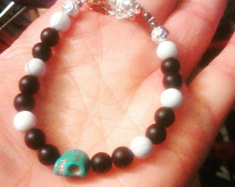 Metaphysical skull bracelet