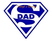 Super Dad - Car Decal - Vinyl Car Decals, Window Decal, Signage, Father's Day Gift, Best Dad