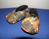 True Timbers Orange and Black Camo Baby Boots 0-3 Months