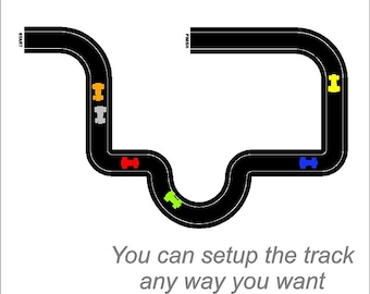 Race Car Tracks Wall Decals Removable Race Track Wall Stickers