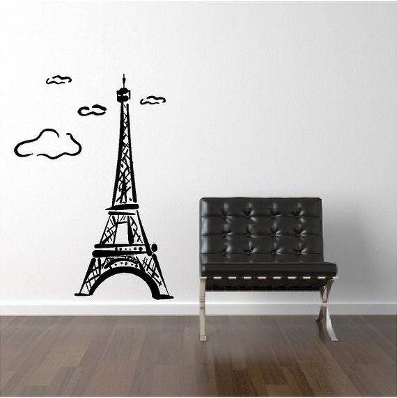 Eiffel Tower Wall Decal Removable Eiffel Tower Wall Sticker