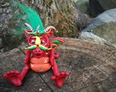 Polymer Clay Dragon 'Fritz' - Limited Edition Handmade Collectible