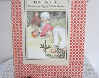 Vintage Book The Fir Tree 1970 Hans Christian Andersen Beautiful Illustrations