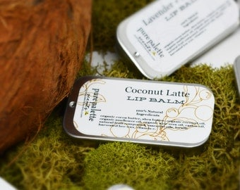 Coconut Latte Lip Balm 100% botanical Natural botanical Flavor