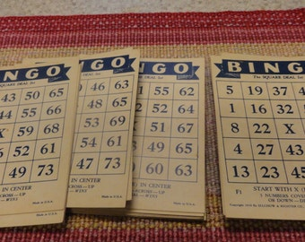 Vintage BINGO CARDS Lot 1936