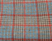 Plaid Wool Fabric, Wool Fabrics, Wool, Plaids, Blue, Red, Sewing Fabric, Material, Sewing Supplies, Craft Supplies, 56 x 64, Medium Weight