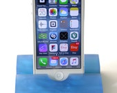 Deep Ocean Blue Groove iPhone Stand- Modern Minimalism at its Best-Great for Dads and Grads!