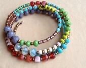 Springtime memory wire bracelet