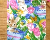 RESERVED for Loraj (2) - Easter Bag - Bunnies - Tulips