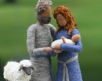 Nativity Set / Needle Felted Nativity